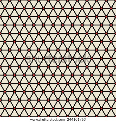 vintage grid background of  triangles. can be tiled seamlessly. each color in separate layer, easy to change. - stock vector