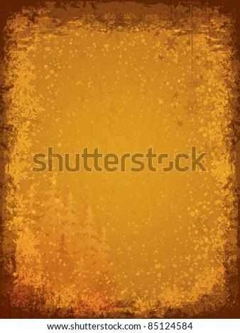 Vintage grunge Christmas background - stock vector