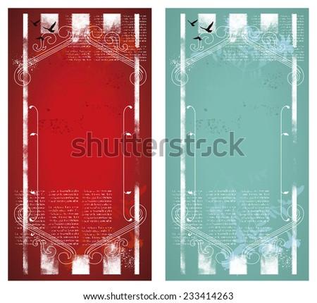 vintage grunge decorative frame - stock vector