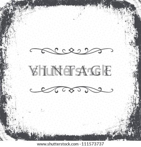 Vintage grunge frame background. Vector, EPS8 - stock vector