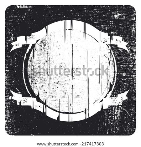 vintage grunge shield - stock vector
