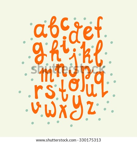 Vintage hand drawn alphabet made in vector. Easy to use and edit letters. Hand drawn digital isolated alphabet for DIY projects and design. - stock vector