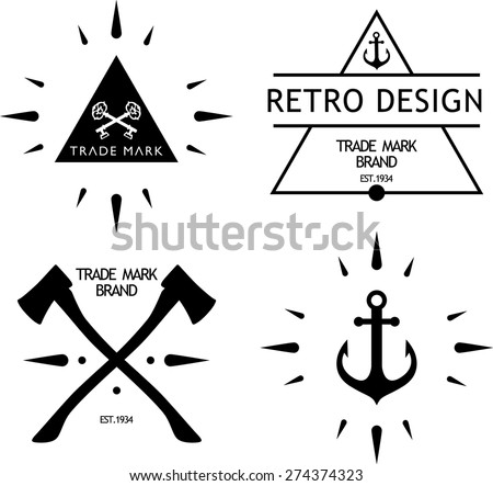 vintage hipster logos, badge, labels - stock vector