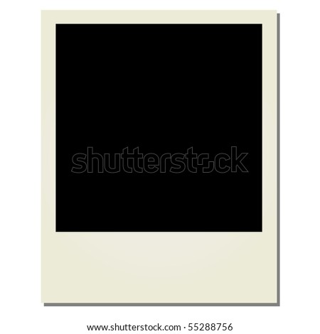 Vintage instant photo Vector - stock vector