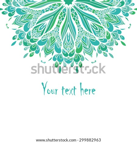 Vintage invitation card. Template frame design for card. Vintage Lace Doily. Can be used for packaging, invitations, Valentine's Day decoration, bag template, print for packet, cup. - stock vector