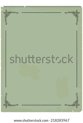 Vintage invoice or an accounting document. Vector base for further editing, without gradients, one layer.  - stock vector