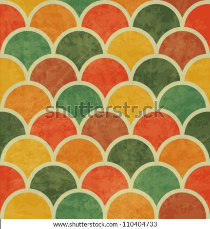 Vintage Japan-style Wave Seamless Pattern - stock vector