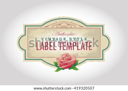 Vintage Label Template - stock vector