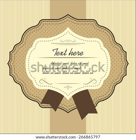 Vintage label. Vector elements for design. - stock vector