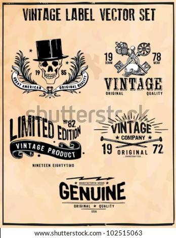 Vintage Label Vector Set - stock vector
