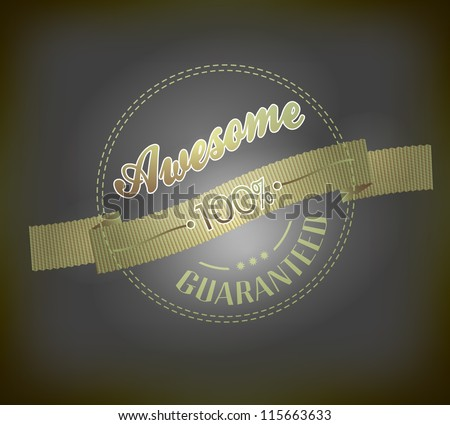 Vintage Label with ribbon, retro vintage styled design - stock vector