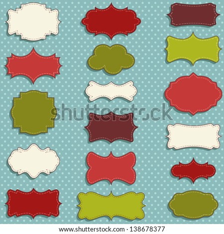 vintage labels set for christmas or winter gifts - stock vector