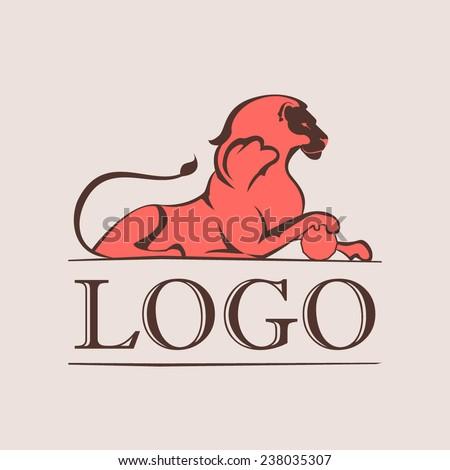 Vintage lion logo - stock vector