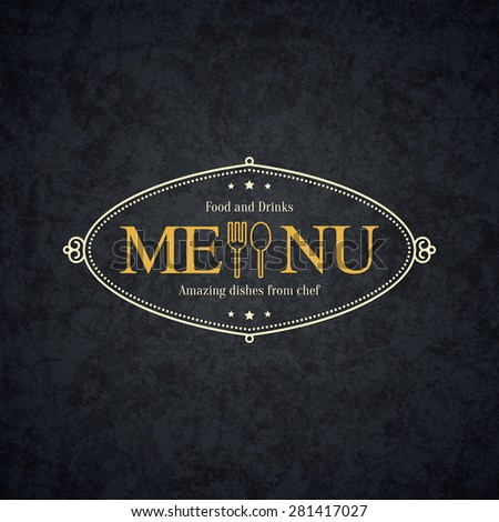 Vintage logotype for restaurant, bars, coffee house, cafeteria - stock vector