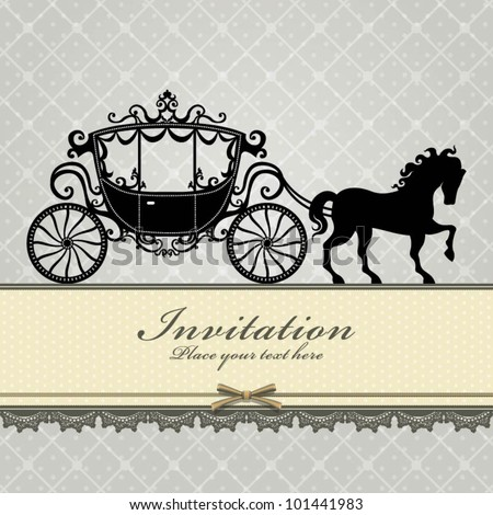 Vintage Luxury carriage (1) - stock vector
