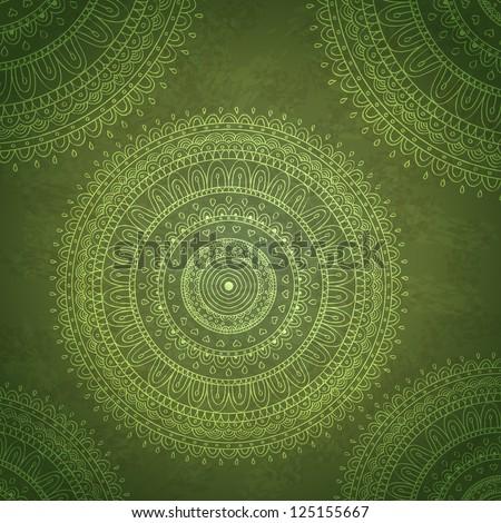 Vintage mandala ornament background. Vector image. - stock vector