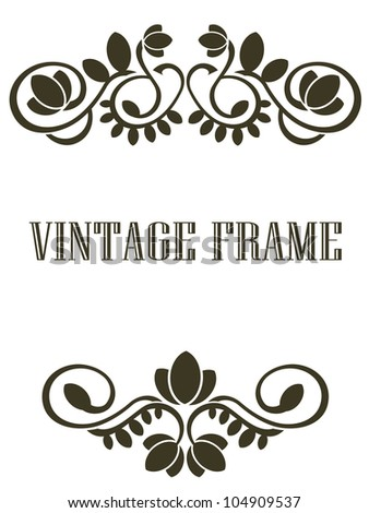 Vintage medieval  frame. Jpeg version also available in gallery - stock vector
