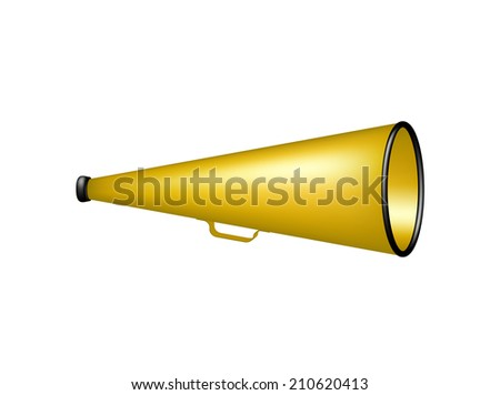 Vintage megaphone - stock vector
