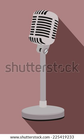 Vintage microphone  - stock vector