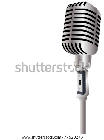 Vintage Microphone with Room for Your Text - stock vector