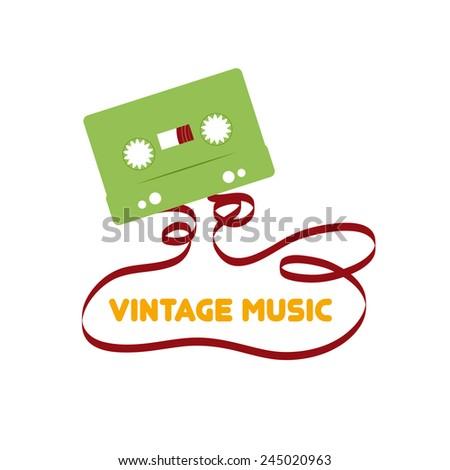 Vintage music. Vector flat design - stock vector