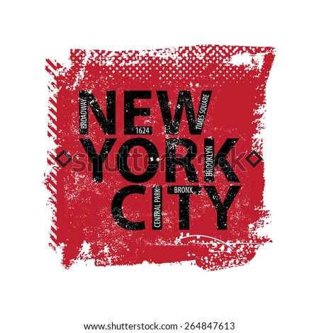 Vintage New york city logo shirt - stock vector