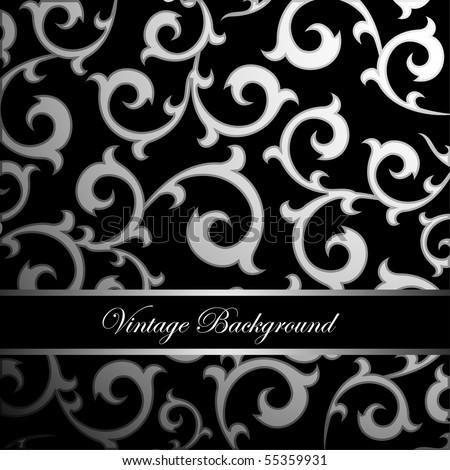 vintage ornament background - stock vector