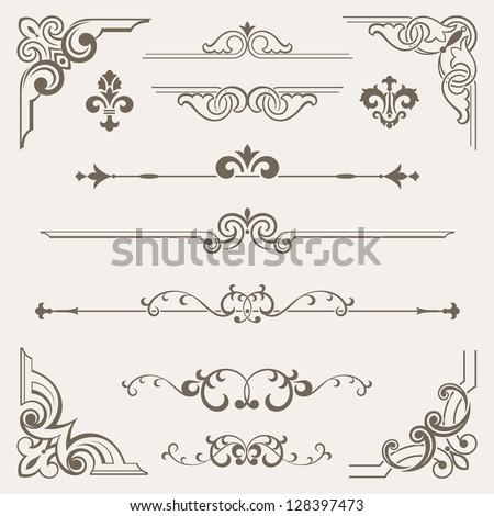 Vintage ornament design element - stock vector