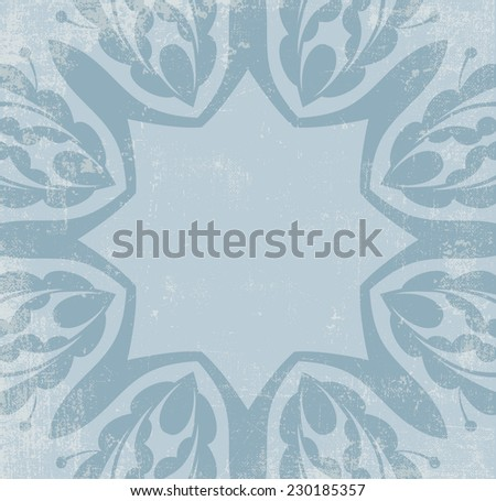 Vintage ornamental background with grunge texture - stock vector