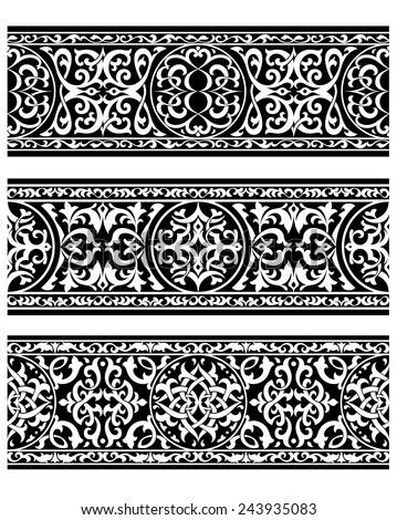 Vintage ornaments and vignettes with floral motifs for wedding, ornate or another design - stock vector