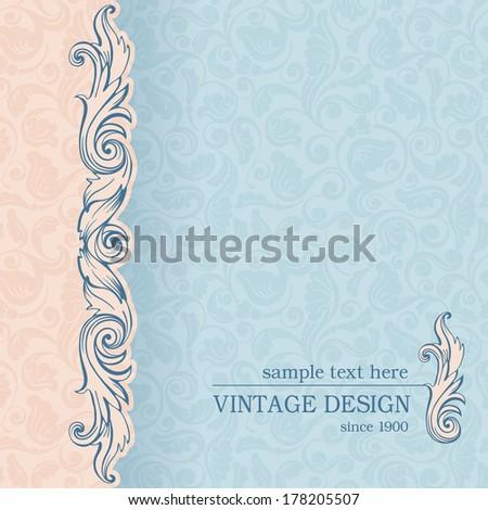 Vintage ornate background. Vector, easy for edit.  - stock vector