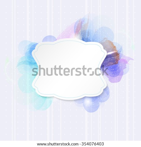 Vintage paper frame on abstract flower background - place for your text. Vector illustration. - stock vector