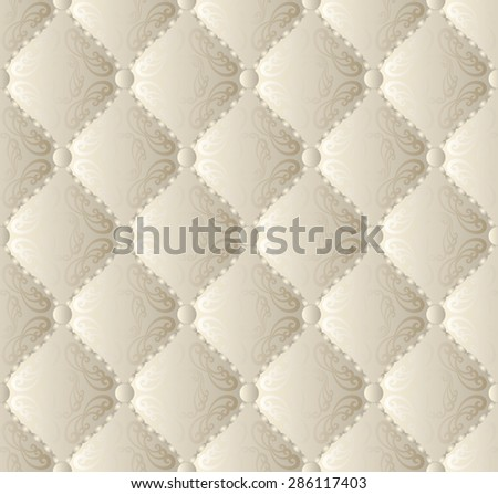 vintage pattern seamless or background with ornaments - stock vector
