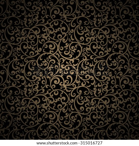 Vintage pattern with lot detailed flourish elements - stock vector