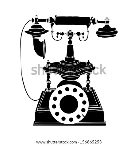 Vintage phone - stock vector