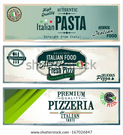 Vintage pizza background - stock vector