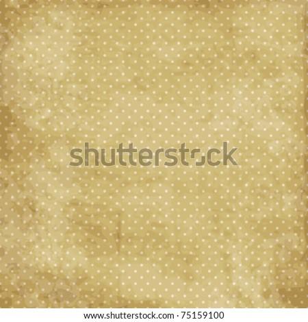 Vintage polka dot texture - stock vector