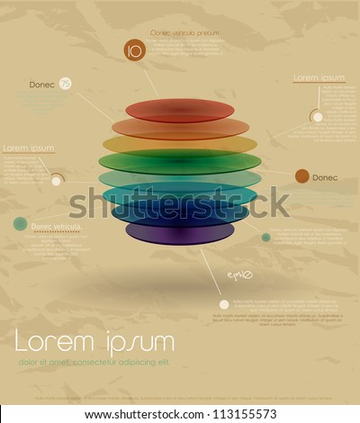 Vintage rainbow infographic template. Vector illustration EPS10 - stock vector
