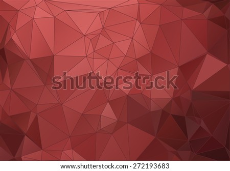 Vintage red abstract polygonal background for your web design - stock vector
