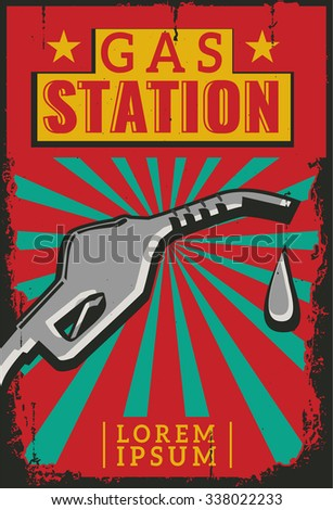 Vintage Retro Car. Grunge Classic Effects. Car Wash and Car Repair - stock vector