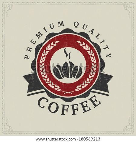 Vintage Coffee Logo Vintage Retro Coffee Badges or