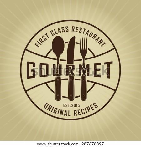 Vintage Retro Gourmet Seal - stock vector