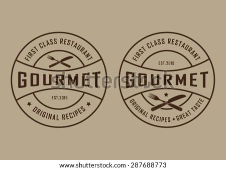 Vintage Retro Gourmet Seals  - stock vector