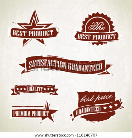 Vintage retro labels and emblems - stock vector