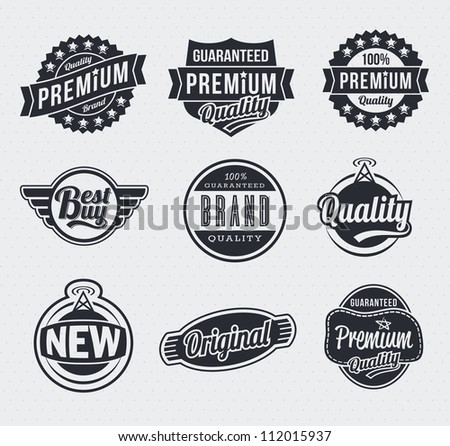 Vintage retro labels and tags - stock vector