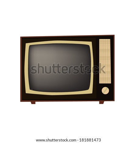 Vintage retro TV. vector  - stock vector