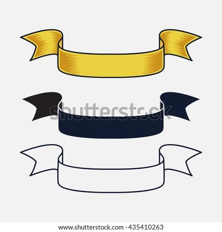 vintage ribbon vector design - stock vector