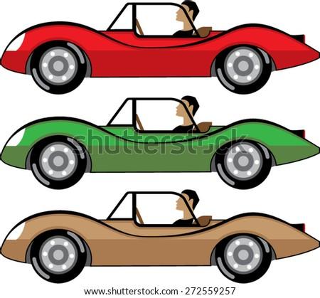 Vintage Roadster vector - stock vector