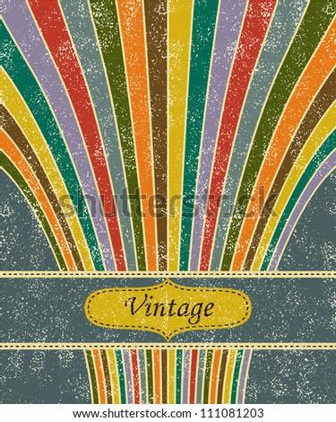 Vintage salute grunge background. Vector illustration - stock vector