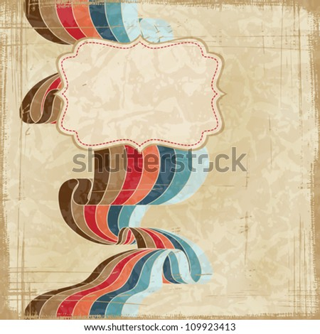 Vintage scratch background with place for text. Vector Eps 10. - stock vector